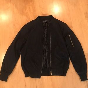 Forever 21 Black Bomber Jacket